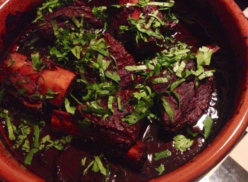short ribs braised in coffee ancho chili sauce